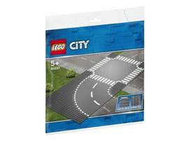 60237 LEGO® City Kurve und Kreuzung:   Erweitere dein LEGO®City Set mit ein paar Bauplatten für eine Kurve und ein