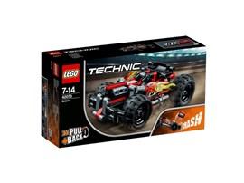 42073 LEGO® Technic BUMMS!:   Zieh den Rückziehmotor in dem robusten LEGO® Technic BUMMS! auf. Der Flitzer