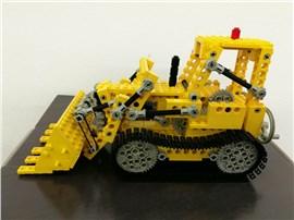 Bulldozer:   Fertiges Lego Modell Bulldozer               Modell aus dem Ja
