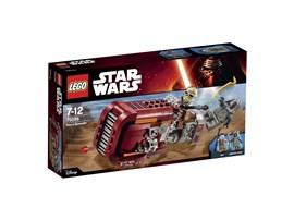 75099 LEGO® Star Wars™ Rey's Speeder™:   Schwebe auf Rey's Speeder mitten ins Getümmel! Dieser coole Landspeeder ist
