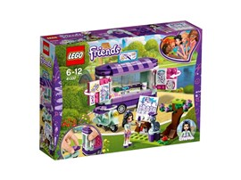 41332 LEGO® Friends Emmas rollender Kunstkiosk:   Emma zieht ihren Kunstkiosk an ihrem coolen Roller in den Heartlake City Par