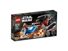 75196 LEGO® Star Wars™ A-Wing™ vs. TIE Silencer™ Microfighters:   Trete mit Kylo Rens TIE Fighter und dem A-Wing des Widerstands zu einem Welt