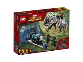 76099 LEGO® Marvel Super Heroes™*:   Sei dabei, wenn Black Panther am Bergwerk auf Killmonger stößt ...! Reite au