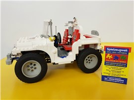 """Jeep weiß:   Fertiges Lego Modell von LEGO®    """"Jeep weiß Modell Team, B-Modell"""""""
