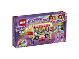 41129 LEGO® Friends Hot-Dog-Stand im Freizeitpark:   Auf dem Dach von Stephanies coolem Hot-Dog-Stand befindet sich ein Sitzberei