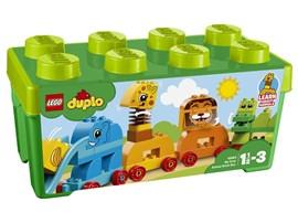 10863 LEGO® DUPLO® Meine erste Steinebox mit Ziehtieren:   Kleine Kinder haben jede Menge Spaß dabei, ihren eigenen Tierzug mit Meine e