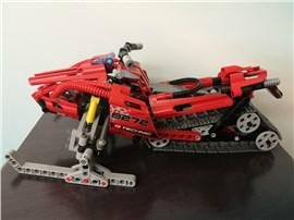 Schneemobil:   Fertiges Lego Modell Schneemobil