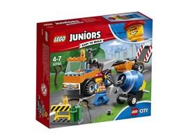 10750 LEGO® Juniors Straßenbau-Laster*:   Zieh mit den LEGO® Juniors Straßenbau-Fahrzeugen los, um die Straßen der Sta