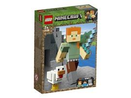 21149 LEGO® Minecraft™ Minecraft™-BigFig Alex mit Huhn:   Die epischen Minecraft™-Modelle sorgen für jede Menge Bau- und Spielspaß – z