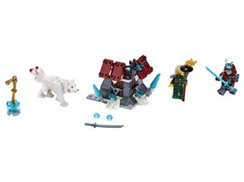 70671 - LEGO® NINJAGO - Angriff des Eis-Samurai:   Inszeniere mit diesem actiongeladenen Ninja-Spielzeug für Mädchen und Jungen