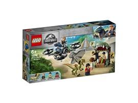 75934 - LEGO® Jurassic World™ - Dilophosaurus auf der Flucht:   Baue Owen Gradys Drohne, flieg damit zu Hudson Harper und beschütze ihn vor