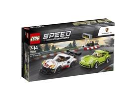 """75888 LEGO® Speed Champions Porsche 911 RSR und 911 Turbo 3.0:   Mach dich bereit für ein Rennen """"Moderne gegen Klassiker"""" – mit den LEGO® Sp"""
