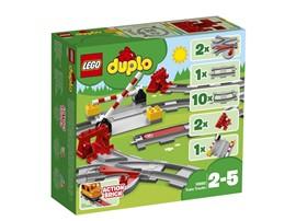10882 LEGO® DUPLO® Eisenbahn Schienen:   Das LEGO® DUPLO® Schienen Zubehör-Set (10882) eröffnet Kleinkindern grenzenl