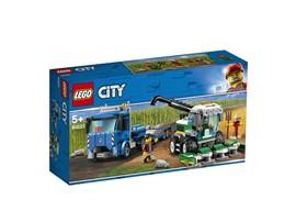 60223 LEGO® City Transporter für Mähdrescher:   Spring aus dem Lastwagen und hilf dem Bauern, seine Ernte einzubringen! Entk
