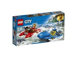60176 LEGO® City Flucht durch die Stromschnellen:   Leinen los auf dem Polizei-Schnellboot! Den Gauner kriegst du! Steuere um di