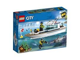 60221 LEGO® City Tauchyacht:   Lasse die Tauchboje ins Wasser und erlebe spannende Abenteuer! Lege deine Ta