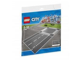 7280 LEGO® City Gerade Straße/ Kreuzung*:   Erweitere mit diesen Bauplatten für gerade Straßen und eine Kreuzung deine L