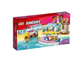10747 LEGO® Juniors Andrea & Stephanies Strandurlaub:   Bei herrlichem Sonnenschein möchten Stephanie und Andrea draußen spielen! Ko